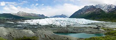 Terminus Of Matanuska Glacier Art Print by Panoramic Images