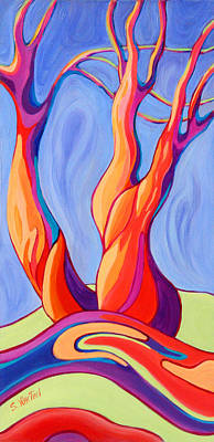 Windblown Painting - Terpsichore Tribute by Sandi Whetzel