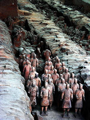 Rowing - Terra Cotta Army Xiang China by Jacqueline M Lewis
