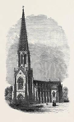 Terra Drawing - Terra Cotta Church by English School