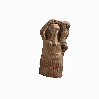 Ceramics Photograph - Terra Cotta Female Figurine. by Science Photo Library