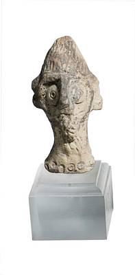 Terra-cotta Figurine Head Art Print