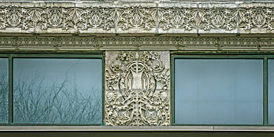 Low Relief Photograph - Terra Cotta Frieze And Medallion - Securities Building - Omaha by Nikolyn McDonald