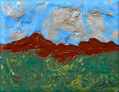Painting - Terra Cotta Hills by Donna Blackhall