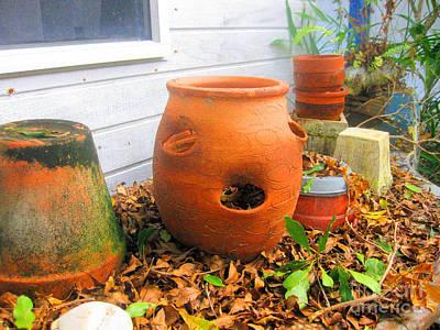 Photograph - Terra Cotta Pots by Sonia Flores Ruiz