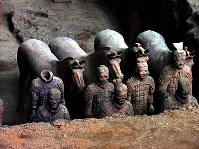 Photograph - Terra Cotta Warriors And Horses by Jacqueline M Lewis