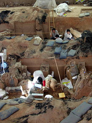 Photograph - Terra Cotta Warriors - Archaeological Dig by Jacqueline M Lewis
