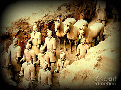 Photograph - Terra Cotta Warriors Horses by John Potts