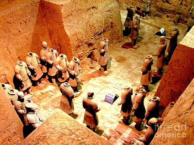 Photograph - Terra Cotta Warriors Pit by John Potts