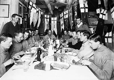 Cape Falcon Photograph - Terra Nova Antarctic Birthday Party by Scott Polar Research Institute