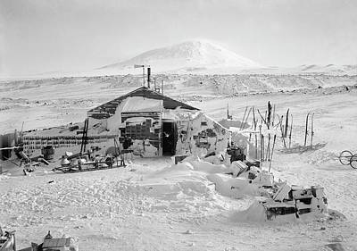 Erebus Photograph - Terra Nova Antarctic Winter Hut by Scott Polar Research Institute