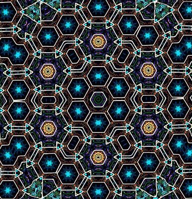 Digital Art - Terra Ocean Mandala by Karen Buford