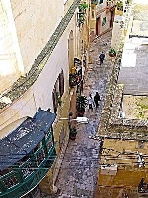 Cellar Mixed Media - Intrigued By Balcony  by Georgina Mizzi
