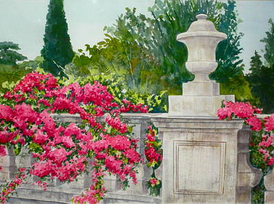 Painting - Terrace With A View by Becky Taylor Fine Art