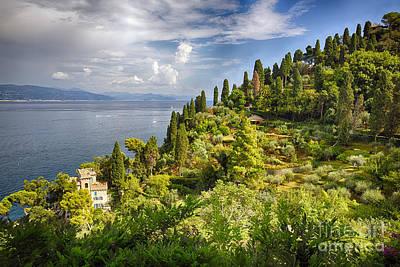 Union Terrace Photograph - Terraced Hillside Of Portofino by George Oze