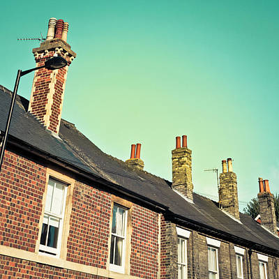 Terraced Houses Art Print by Tom Gowanlock