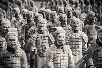 Figure Photograph - Terracotta Army by Adam Romanowicz