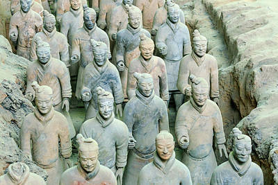 Qin Shi Huang Photograph - Terracotta Army Museum, Warriors by Stuart Westmorland