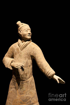 Chinese Warrior Photograph - Terracotta Warrior In Xi'an China by Fototrav Print