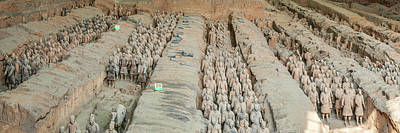 Terracotta Warriors And Horses, Xian Art Print by Panoramic Images