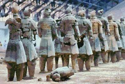 Painting - Terracotta Warriors by George Atsametakis