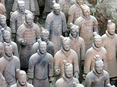 Art Print featuring the photograph Terracotta Warriors by Kay Gilley