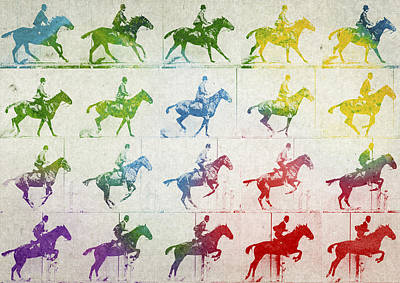Horse Racing Digital Art - Terrestrial Locomotion by Aged Pixel