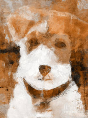 Dog Portrait Mixed Media - Terrier II by Lutz Baar