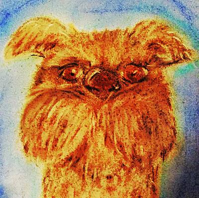 Fuzzy Digital Art - Terrier by Melissa Osborne