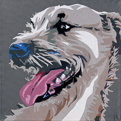 Painting - Terrier Mix 2 by Slade Roberts