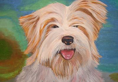 Terrier Portrait Art Print by Tracey Harrington-Simpson