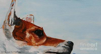 Painting - Terrier Skies by Susan Herber