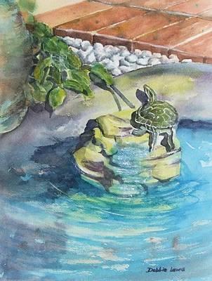 Painting - Terrific Turtle by Debbie Lewis