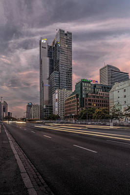 Clouds Rights Managed Images - Terrific Warsaw View from Jerozolimskie Av towards Rondo One Tower Royalty-Free Image by Julis Simo