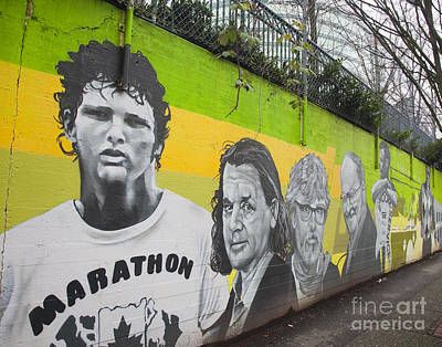 Photograph - Terry Fox Mural by Chris Dutton