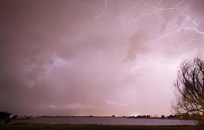 Terry Lake Lightning Thunderstorm Art Print by James BO  Insogna