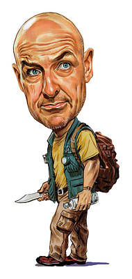 Comics Royalty-Free and Rights-Managed Images - Terry OQuinn as John Locke by Art