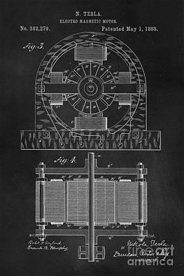 Patent Photograph - Tesla Coil Patent Art by Edward Fielding