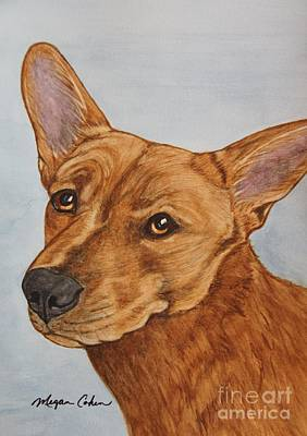 Wall Art - Painting - Tesla The Dixie Dingo by Megan Cohen