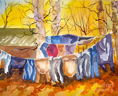 Painting - Tess Anne's Laundry by Pat Crowther
