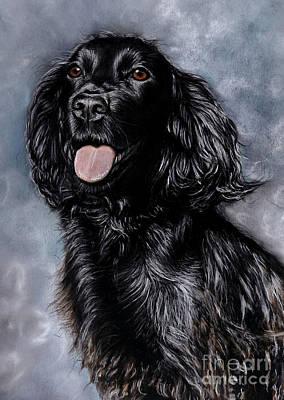 Black Cocker Spaniel Painting - Tess by Caroline Collinson