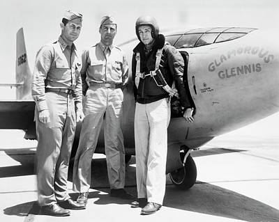 Test Pilots And Bell X-1 Art Print by Underwood Archives