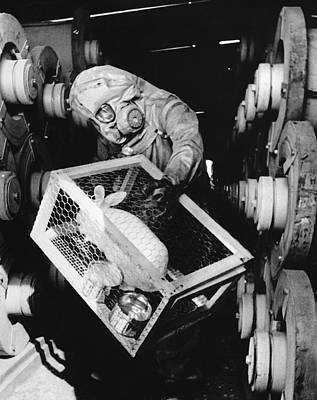 Testing For Nerve Gas Art Print by Library Of Congress