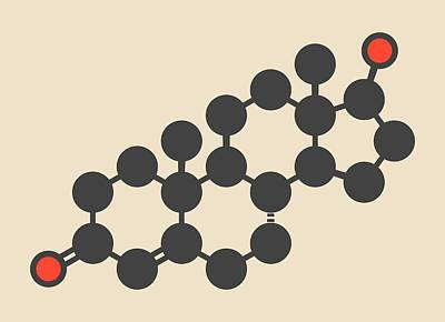 Testosterone Male Sex Hormone Molecule Art Print