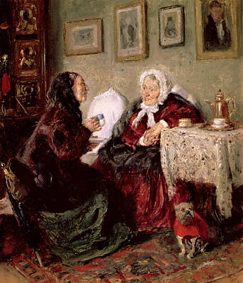 Talking Painting - Tete A Tete by Vladimir Egorovic Makovsky