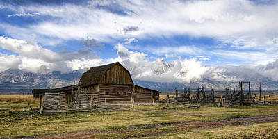 Photograph - Teton Barn 2 by David Armstrong