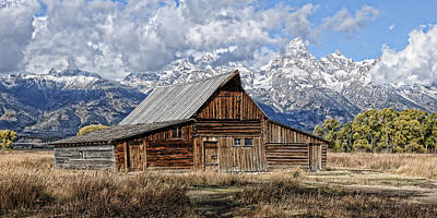 Photograph - Teton Barn 3 by David Armstrong