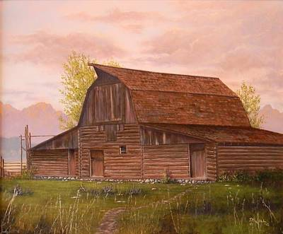 Painting - Teton Barn by Paul K Hill