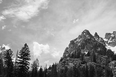 Photograph - Teton Clouds Black And White by Robert  Moss