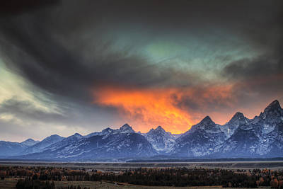 Teton Explosion Art Print by Mark Kiver